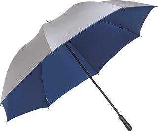 シルバーキングサイズ手開き傘 直径約134cm 親骨80cm 【LIEBEN-0197】 リーベン