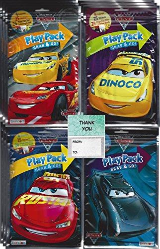 Cars 3 Disney Grab n Go Play Packs Bundle (12 Pack) Party Favors