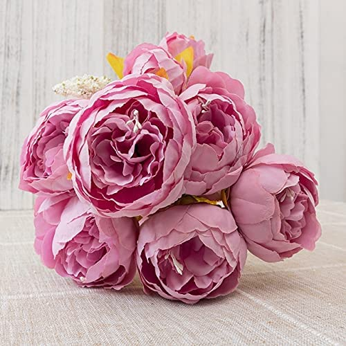 Abraha70- El Paso Mall 50cm Pink Silk Peony Spring new work one after another Bouquet Artificial Flowers Big Ar