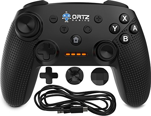 Ortz Wireless Gaming Controller oNintendo Switch [Free- Analog Replacements] Gamepad Remote - Best PC USB Computer, Windows 7 &10, Android [Turbo Buttons] 40