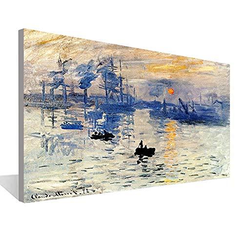 Paisaje marino Barco de vela Pintura abstracta moderna de la lona Sala de estar...
