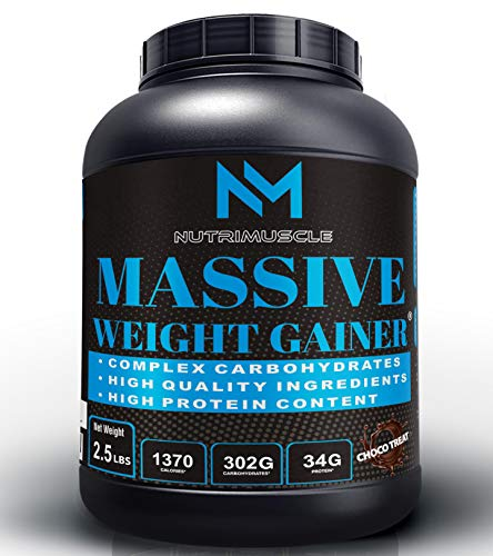NUTRIMUSCLE MASSIVE WEIGHT GAINER - 2.5LBS - CHOCO TREAT For WEIGHT GAIN