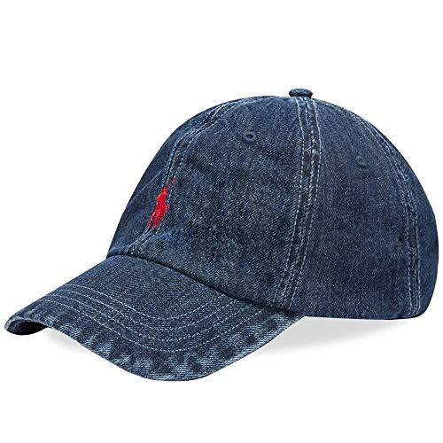Polo Ralph Lauren MOD. 710674341 Cappello Baseball Tessuto Jeans Unisex Blu