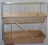 Heimtiercenter XXL 1m doppel Hasenkäfig Meerschweinchenkäfig beige