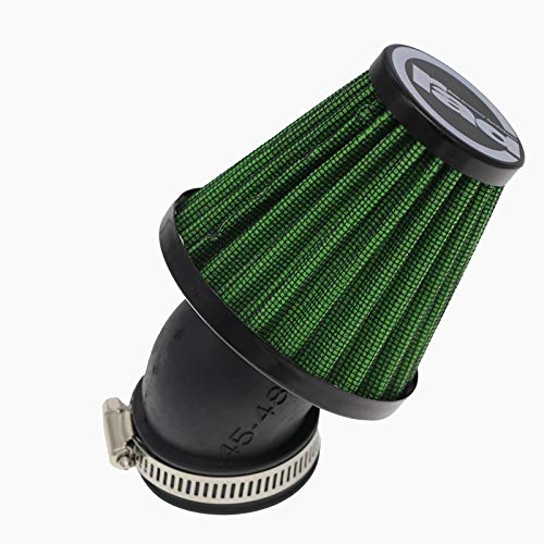 fengqing Moto Aire 28mm 38mm 42mm 48mm Filtro Limpiador con Abrazadera 45...
