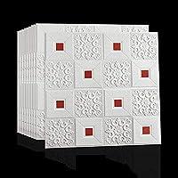 自己接着3Dフォームウォールステッカー壁紙防音デコレーションハウス天井壁紙(10個) A++ (カラー : E)