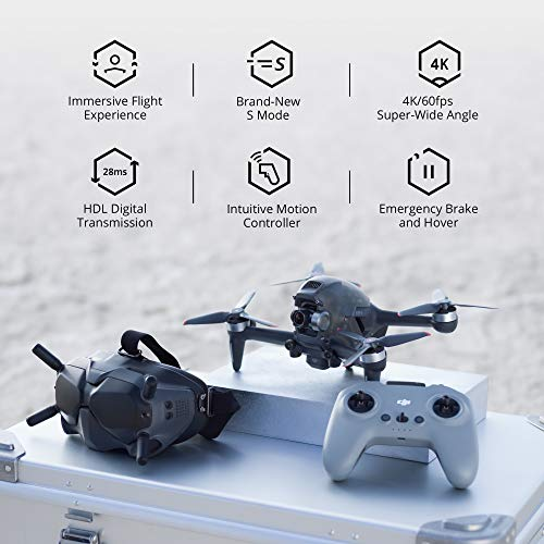 DJI FPV Combo - First-Person View Drone UAV Quadcopter with 4K Camera,...