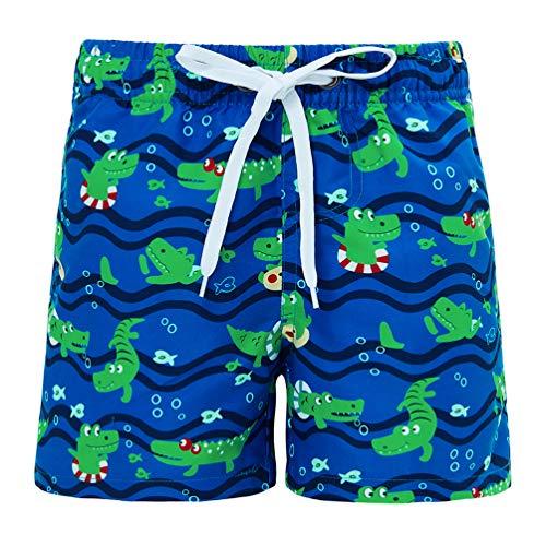 Funnycokid Jungen Swim Badeshorts Sommer Bedruckte Schnelltrocknend Strand Shorts mit Netzfutter Kinder Surfenen Bottoms 4T
