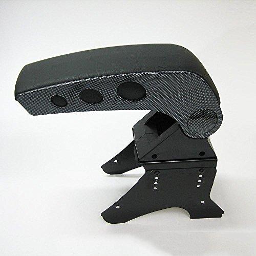 CarJoy 48006, bracciolo centrale universale con portaoggetti, in carbonio ed ecopelle