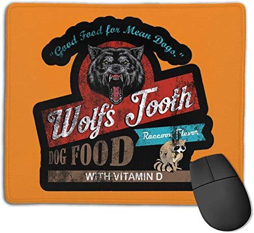 Wolfs Zahn Hundefutter Mauspad Gaming rutschfeste Gummi Mousepad, Arbeiten oder Spiel