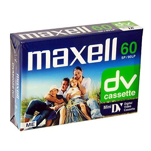 Maxell MAXDVM60 - Cinta de grabación (grabación de 60 minutos) multicolor