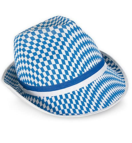 Carnaval chapeau 38590 bayern blanc/losanges bleu losange neuf/emballage d'origine