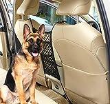 Uvome Barriera per auto per cani, sedile posteriore, organizer per auto, rete universale per ostacoli per bambini e bambini (3 strati)