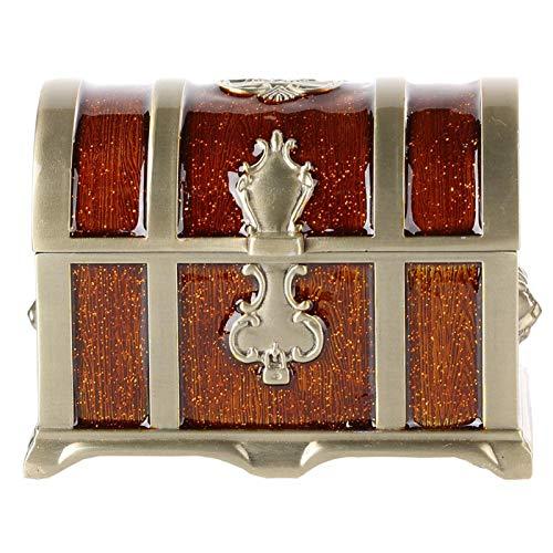Caja Organizadora de Pendientes Estilo Vintage Medieval para Escritorio, Salón(Epoxy brown)