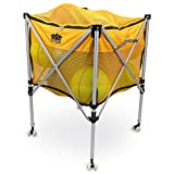 Crown Sporting Goods Collapsible Ball Cart - Rolling Wheels, Zip Top Cover,...
