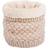 Infinity Scarf Winter Cuello de Doble Capa Cálido de Punto Fleece Forrado Círculo Bufandas de Bucle