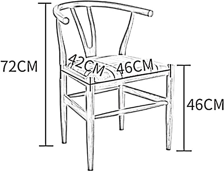 WHOJA Chaise Dossier courbé Coussin éponge Cadre en bois massif Forte capacité de charge 4 styles 46x42x72cm Chaises d'angle (Color : B) C