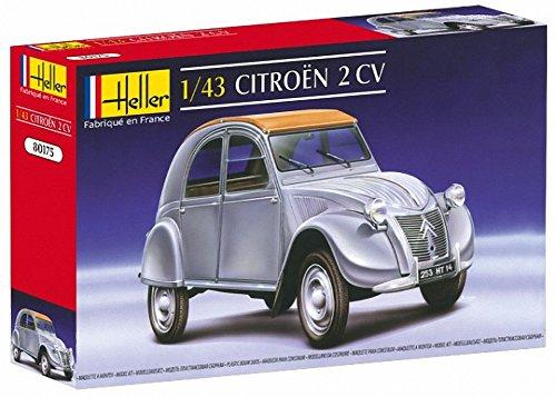 Heller 80175 - Modellino da Costruire, Auto Citroen 2 CV, Scala 1:43 [Importato da Francia]