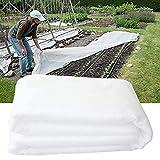 Easy-topbuy Cubierta De Invierno para Plantas, Funda para Plantas Tela No Tejida Mallas Anti-heladas para Heladas, Granizo, Nieve, Viento Frío, 2.5x7.5m / 3x9m / 3x15m