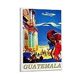 WETUO Vintage-Reise-Poster Guatemala, Leinwand-Kunst-Poster