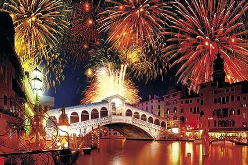1000 Piece But  Puzzle gourous Venise et sa lagune III- Rialto Bridge [Italie] (50x75cm)