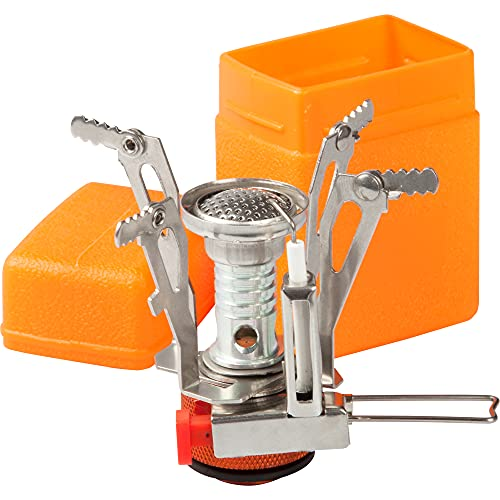 LBI Camping Stove Backpacking Stove 3000W Portable Lightweight 0.21 Pound Foldable Camp Stove Pocket Rocket Stove with Piezo Lighter for Camping, Hiking, Travel, Cooking, Fits Butane Propane Canister