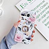 Uposao Cover Compatibile con Samsung Galaxy S8 Plus Shiny Fiore Rose Colorato Brillantini Modello Disegni con Supporto ad Anello Morbida TPU Silicone Gel Gomma Bumper Cover,Fiori Uccelli