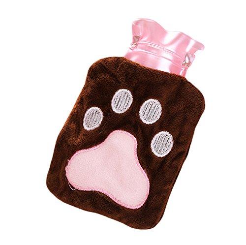lumanuby 1x bolsa de agua caliente infantil con Plush funda de oso garra de calor Cojín pequeñas para dispensador en días fríos o Alivia vientre térmica, Medicinales