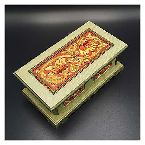 ZZL Caja de música pintada a mano Caja de música The Emperor's Vals Caja musical mecánica Caja de regalo de cumpleaños del día de San Valentín para él/ella práctica