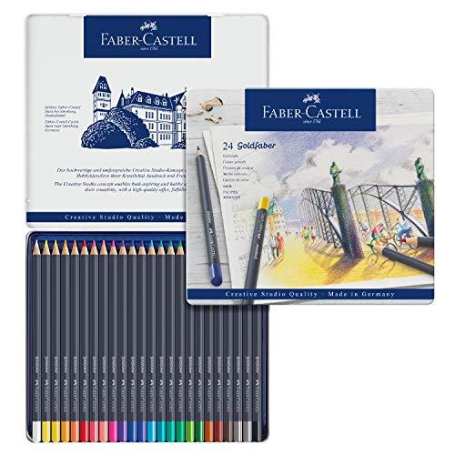 Faber-Castell Goldfaber Color Pencils Tin Set, 24ct.
