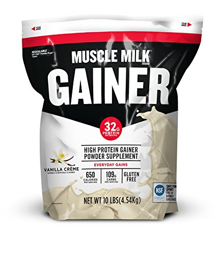 Muscle Milk Gainer Protein Powder, Vanilla Crème, 32g Protein, 10 Pound