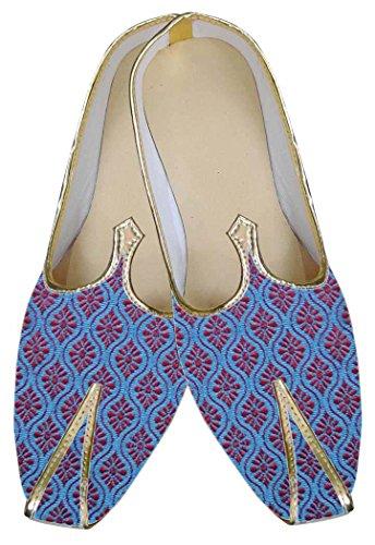 INMONARCH Hombres Zapatos Novio imaginativa Azul MJ0040S8H 41 Azul