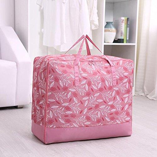 Xuan - Worth Another Motif Feuille Rose 3 Pcs Un Sac De Couettes Moisture Vêtements Quilts Sac Sac De Finition Boîte De Rangement (Taille : 70 * 50 * 30cm)