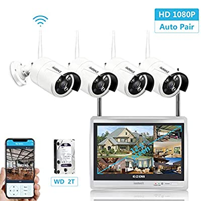 1080p 8CH HDMI NVR 2TB HDD - 8 x 2.0 Megapixel WiFi Wireless Outdoor Indoor Home Security Camera System Easy Setup and Remote Access