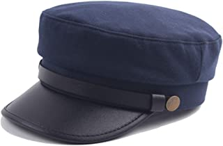 COODIO Unisex Breathable Cotton Navy Cap Chic Outdoor Beret Flat Cap for Winter Autumn for Fashion Jewelry