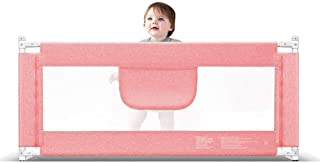 Playpens Portable and Steady Bed Guard Baby Safety Bed Rail Extra Wide Folding Mesh Rail Large 120-220cm  Pink  Height 85cm  Size 180CM