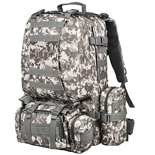 NOOLA Tactical MilitaryBackpack SurvivalArmy RucksackAssault Pack Molle Bag (ACU)
