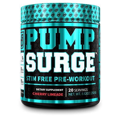 PUMPSURGE Caffeine-Free Pump & Nootropic Pre Workout Supplement