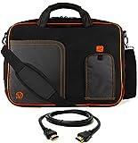 Orange Trim Laptop Messenger Bag, HDMI Cable for ASUS Transformer, ROG, ASUSPRO, ZenBook, VivoBook 14' to 15.6 inch