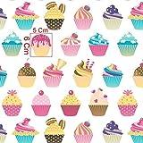Pingianer 11,99€/m Cupcake Muffin Kuchen 100% Baumwolle