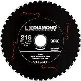LXDIAMOND, lama per sega in metallo duro, 216 mm x 30,0 mm, Z48, per ferro acciaio inox V2A V4A, profili in acciaio adatto per metallo, seghe circolari a mano, seghe da tavolo 216 mm