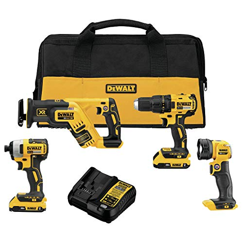 DEWALT DCK476D2 20V MAX Brushless Cordless 4-Tool Combo Kit