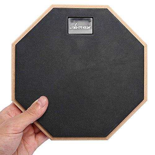 Drum Pad üben Asmuse Übungspad Schlagzeug 8 Zoll Practice Drum Pad für Übe das Trommeln Schwarz