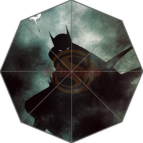 NJSDDB Regenschirm Gewohnheit Batman Bestes Nizza kühles Entwurfs-bewegliche Art- und Weisestilvoller nützlicher Faltbarer Regenschirm Gute Geschenkidee!U9876540Marineblau