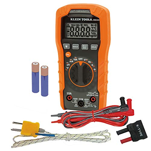 Klein Tools Digital Multimeter, Auto-Ranging, 600V MM400
