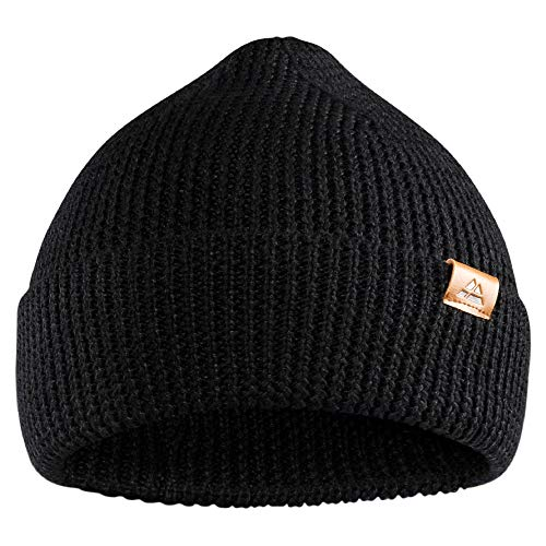 DANISH ENDURANCE Classic Merino Wool Beanie for Men & Women, Soft & Stretchable Unisex Cuffed Plain Knit Hat with Comfort Fit, with Recycled Materials
