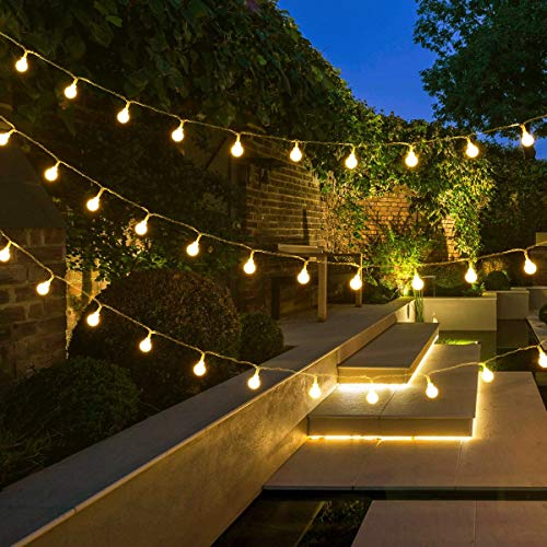 Lepro Globe String Lights Plug in, 10m 100 LED Fairy Lights Mains Powered, 8 Modes Warm White Christmas Lights for Gazebo, Pergola, Garden, Party, Teen Girl's Bedroom Wall and More
