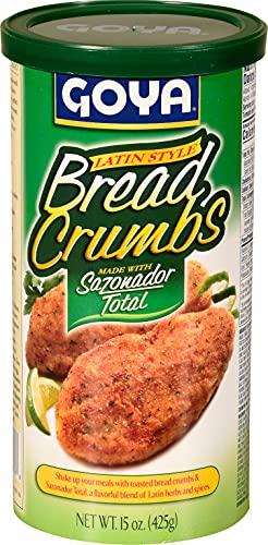 Goya Foods Bread Crumbs with sazonador Total, 15 Ounce (Pack of 12)