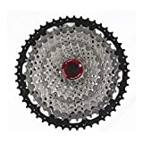 ZTZ 8/9/10 Speed Cassette MTB Cassette 11-42T 8 Speed Fit for Mountain Bike, Road Bicycle, MTB, BMX, SRAM Shimano Sunrace (9 Speed 11-46T)