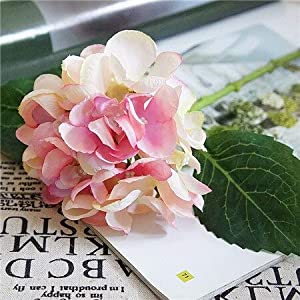 Artificial and Dried Flower Artificial Flowers Hydrangea Silk Mini Sweet Pea Flower Dekor Plant Bouquet Fake Flowers Garden Decor for Home Crafting – ( Color: Light-Pink )